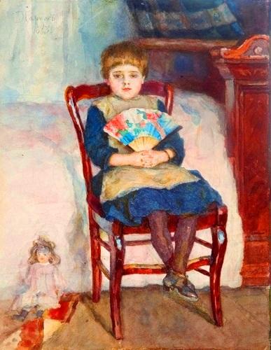 В.И.Суриков. Портрет дочери Ольги в детстве. 1888