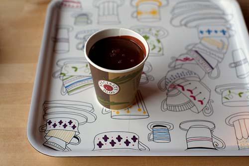 горячий шоколад  в кафе Мороз и Солнце