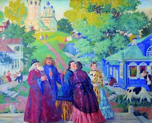 Кустодиев. Пасхальный день. 1917