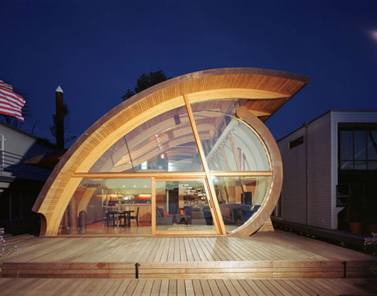 architecture-awesome-modern-architecture-of-floating-house-with-unique-wood-half-round-roof-and-creative-glass-wall-also-door-unique-architecture-homes