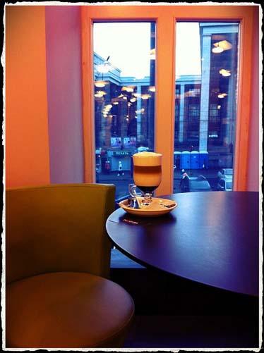 "Латте в кафе ""Москвы"" (130 руб.)"