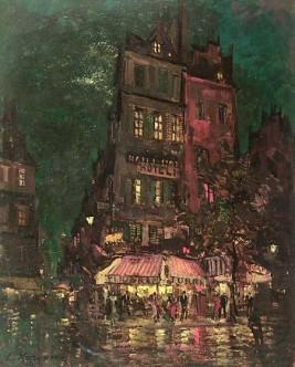 Константин Коровин. Париж. Улица Венеция. 1927.
