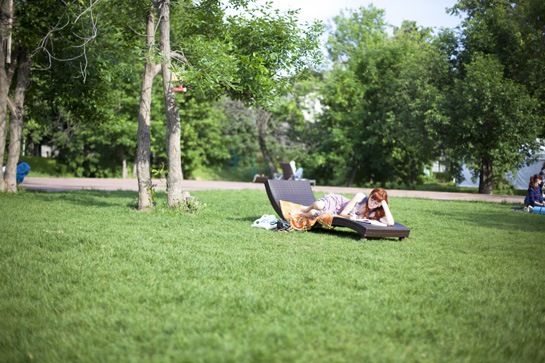 300 дней лета: открытая библиотека в парке «Красная Пресня»