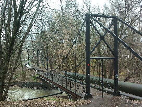 Мосфильм - мост через Сетунь