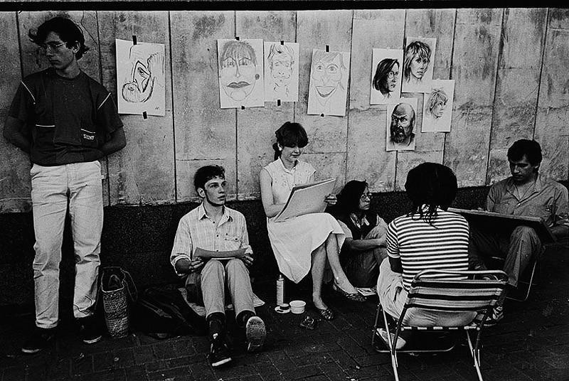 Уличные художники на старом арбате