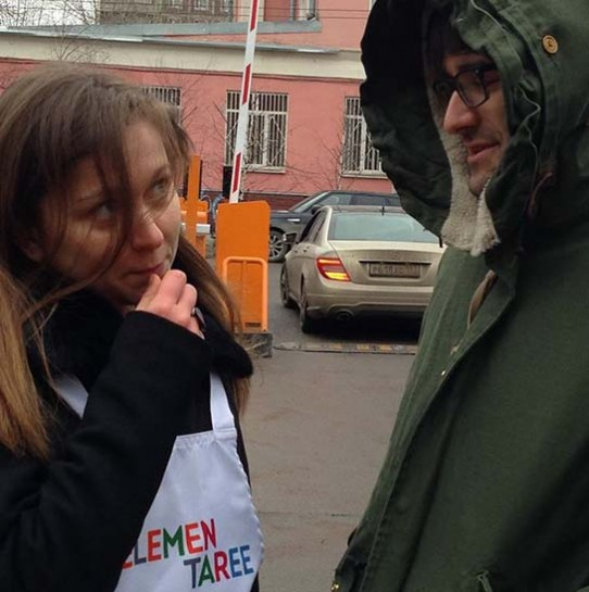 Ольга Зиновьева и Силард Букша